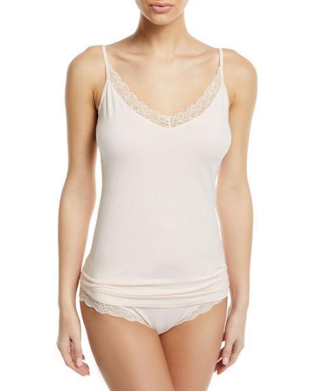 d79cd3e2ee0c18 Hanro Cotton Lace-Trim Camisole In Powder