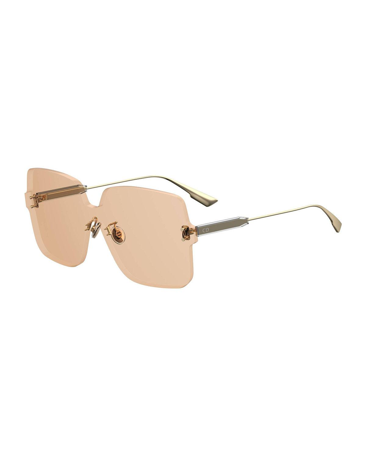 f1d794e2075 Dior Quake1 147Mm Square Rimless Shield Sunglasses - Nude In Pink ...