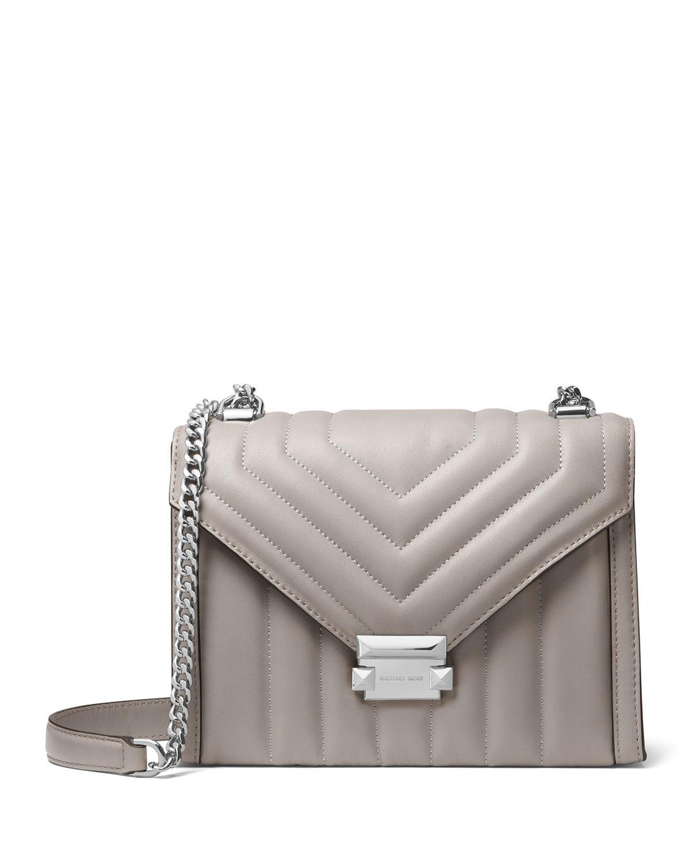 54c1db3624300c Michael Michael Kors Whitney Large Shoulder Bag In Pearl Grey | ModeSens