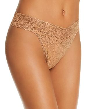 b6f872a38c Hanky Panky Stardust Metallic Stretch-Lace Thong In Gold
