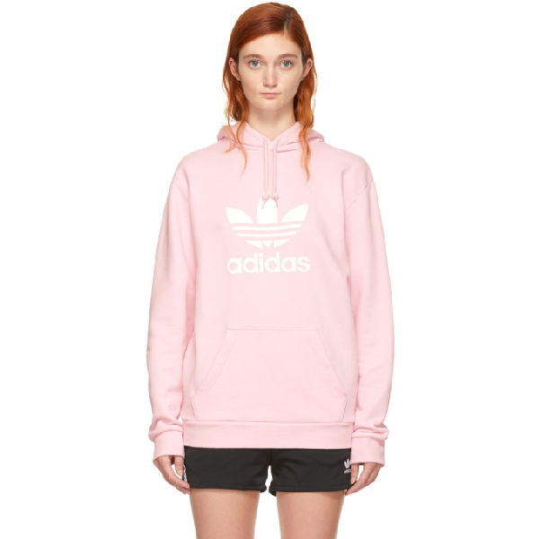 081425fc28aa ADIDAS ORIGINALS. Adidas Men s Treifoil French Terry Hoodie in Clear Pink