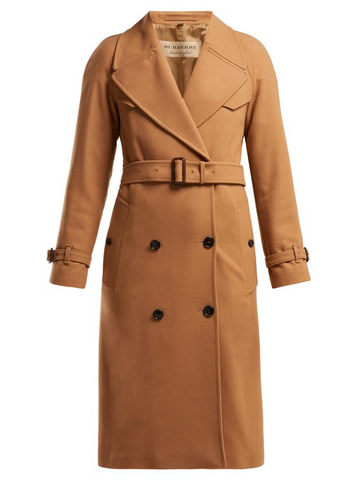 847990af Burberry Herringbone Wool-Blend Trench Coat In Beige | ModeSens