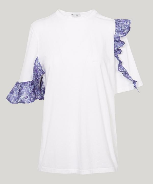 Clu Floral Ruffle T-shirt In White