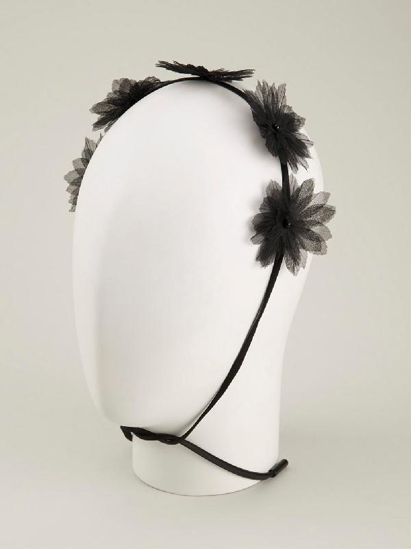 Gigi Burris Millinery 'shadow Flora Crown' In Black