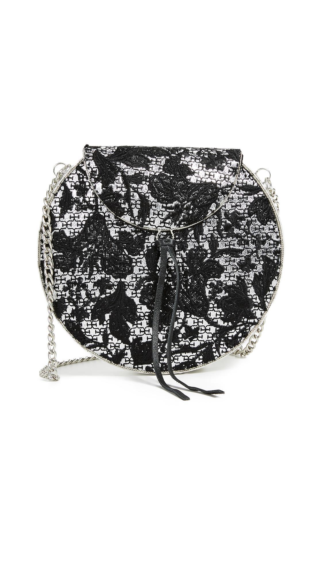 023e3d3121ba Sam Edelman Beatrice Metal Minaudiere In Silver Floral Embroidery ...