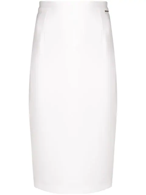 Styland Midi Pencil Skirt In White