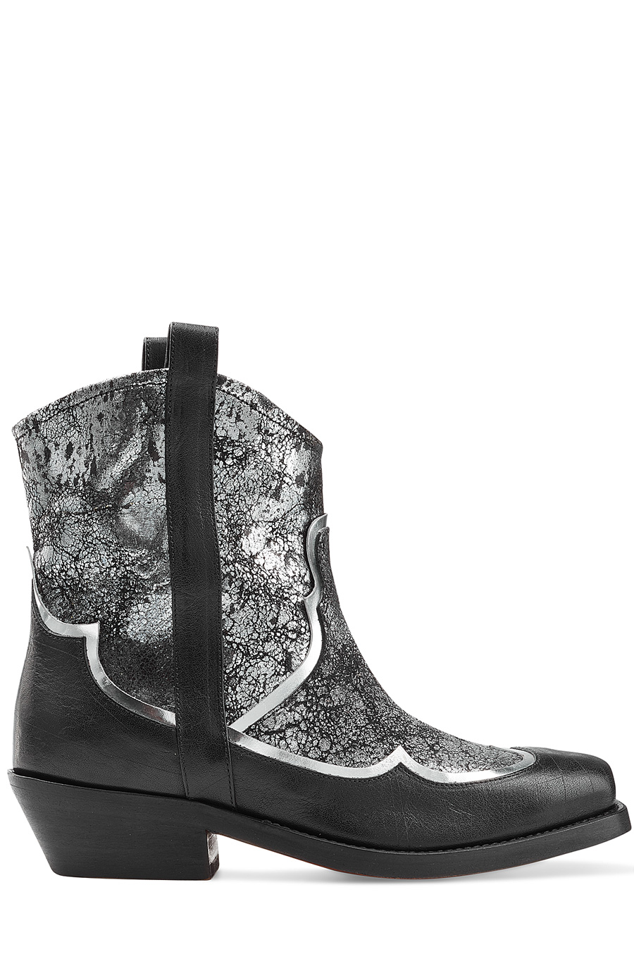 Rupert Sanderson Biboa Metallic Leather Ankle Boots In Silver