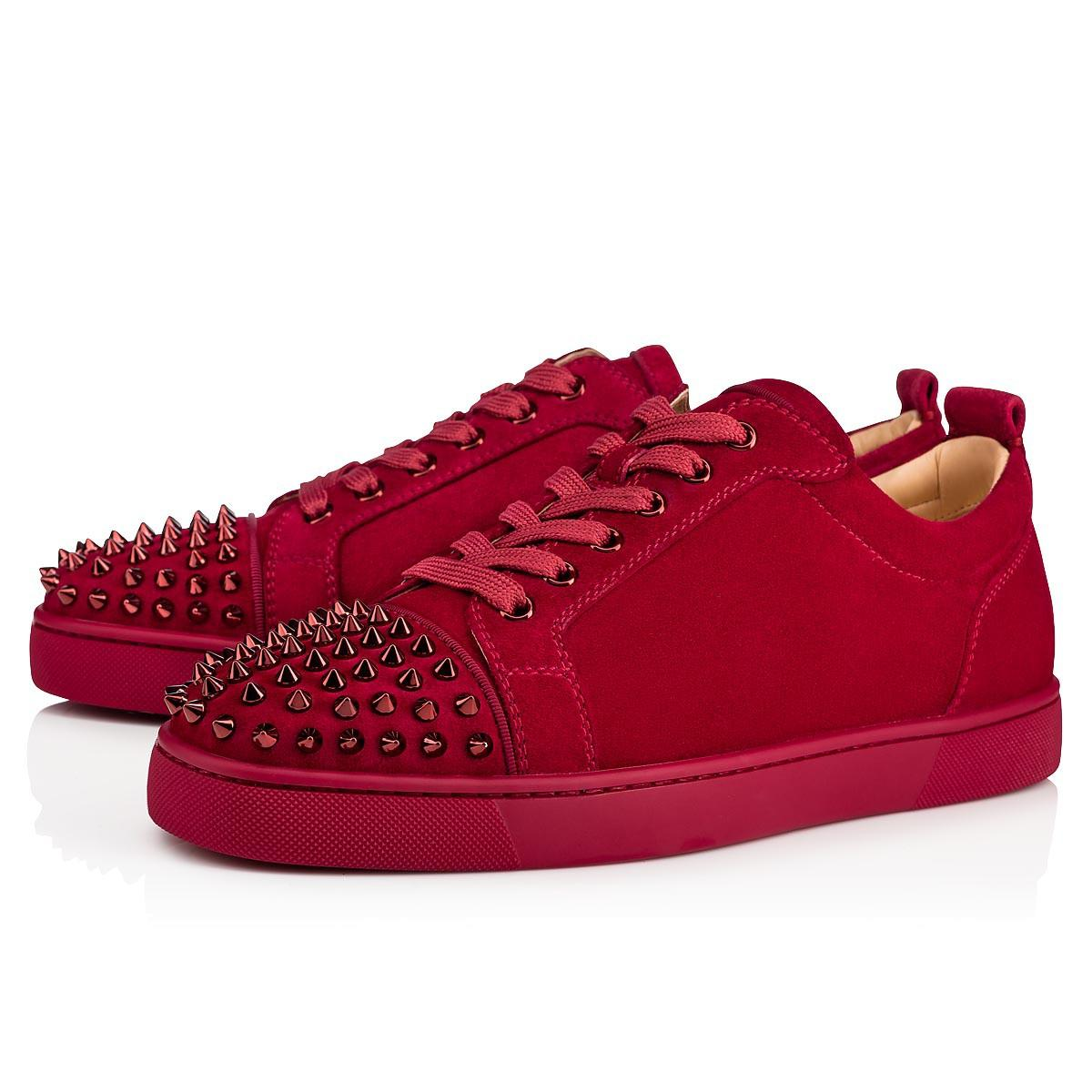 6156330cb1e Christian Louboutin Louis Junior Spikes Veau Velours/Gros Grain In ...
