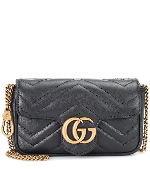 Gucci Gg Marmont Mini Shoulder Bag In Black