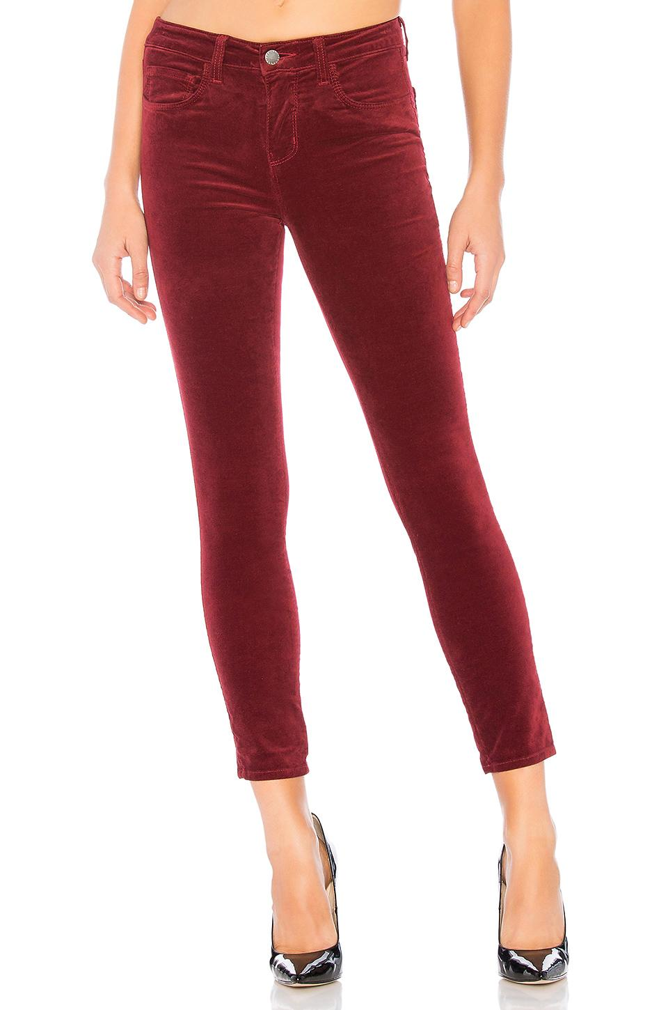 2b6460bb7f L Agence Margot High Rise Skinny In Red