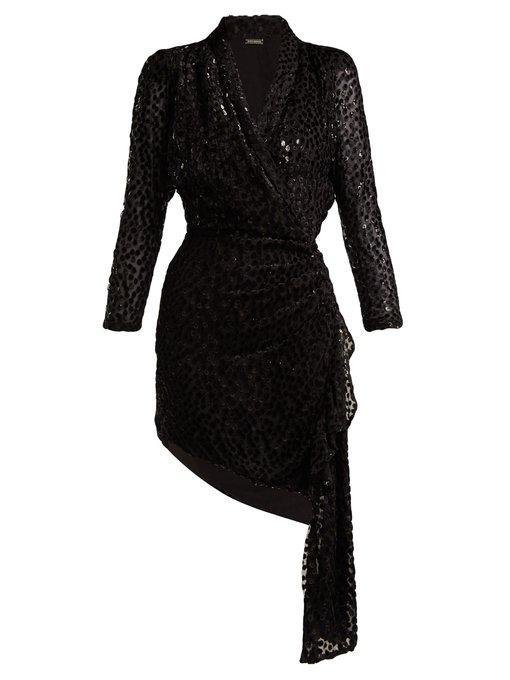 Dodo Bar Or Ida Dress.Dodo Bar Or Ava Asymmetric Polka Dot Fil Coupe Dress Womens Black