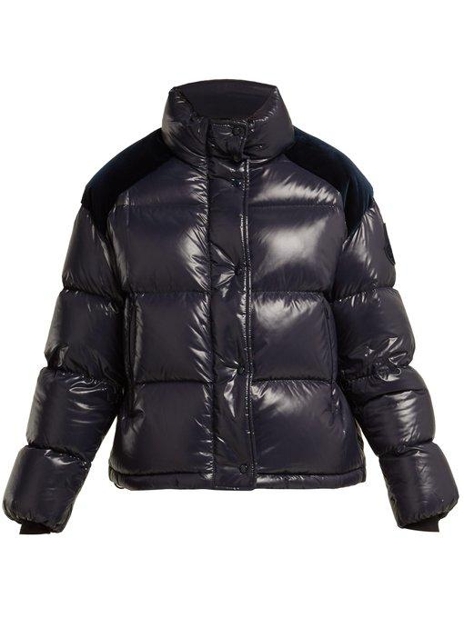 beec6854ed4 Moncler Chouette Quilted-Down Jacket In Navy | ModeSens