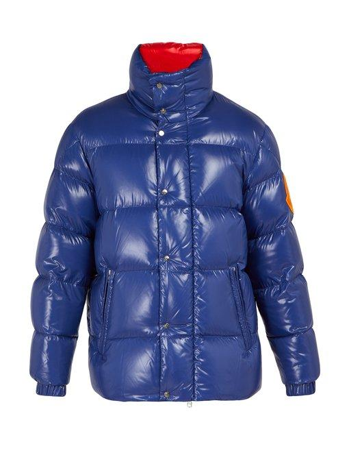8ecded8a236c Moncler Dervaux Quilted-Down Jacket In Blue Multi