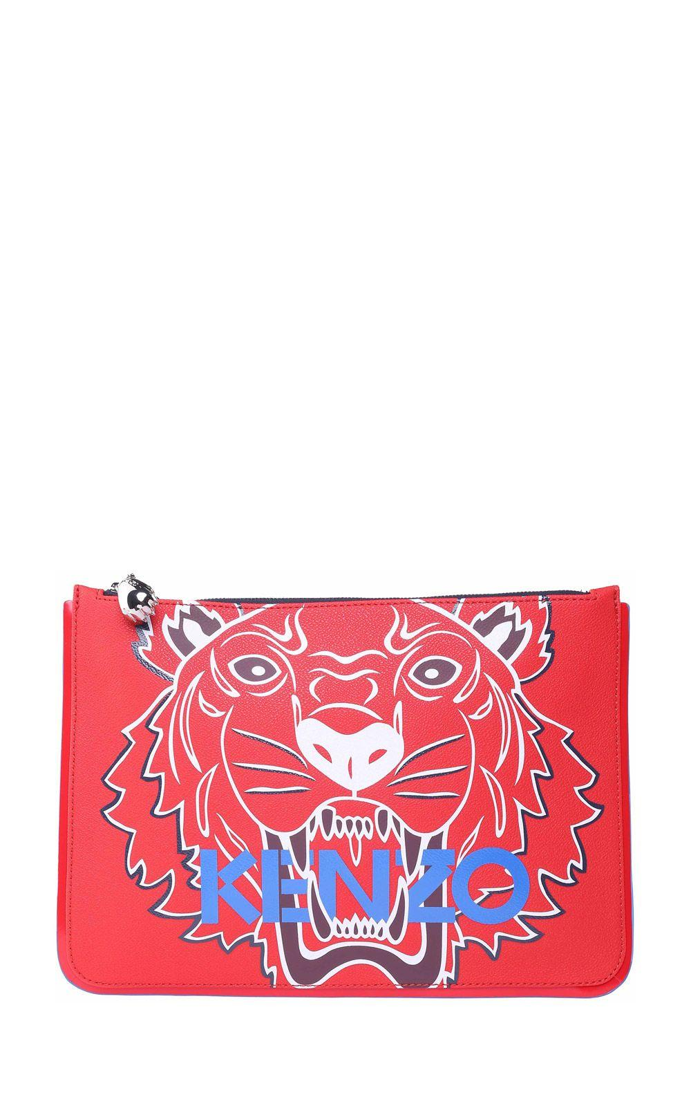 5396ad5c Kenzo Tiger A5 Faux-Leather Clutch In Rosso | ModeSens