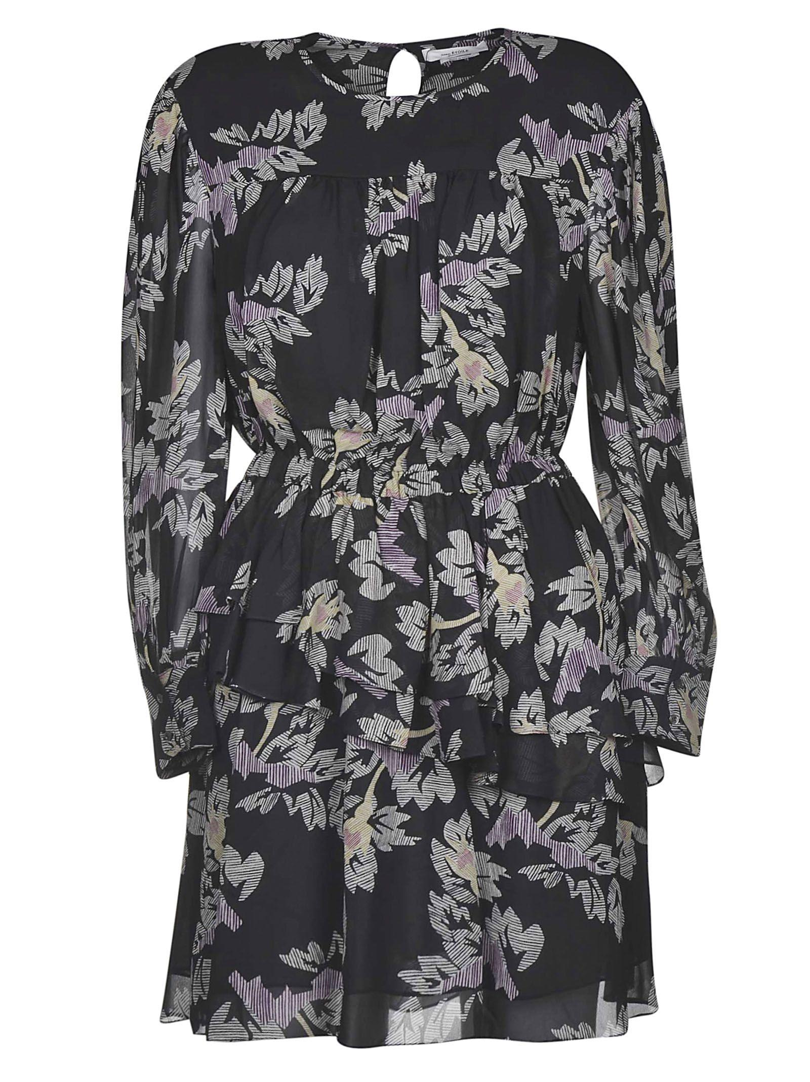 Isabel Marant étoile Floral Dress In 01bk Black