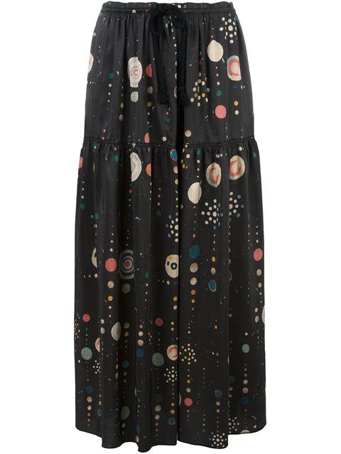 Isabel Marant 'owel' Skirt In Steel Grey