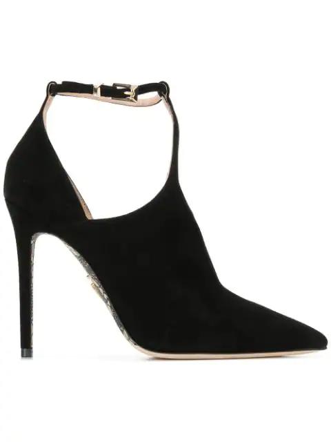 17c6fd5825e BLACK AND WHITE ANKLE STRAP PUMPS - Cesare Paciotti Ankle Strap ...