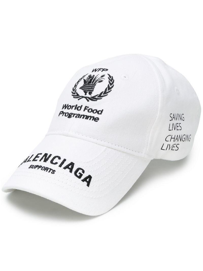 19e0c6188dbeb Balenciaga + World Food Programme Embroidered Cotton-Twill Baseball Cap In  White