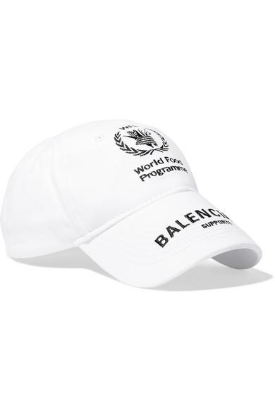 508314abbfe564 BALENCIAGA. + World Food Programme Embroidered Cotton-Twill Baseball Cap ...