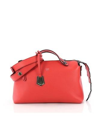 36269d8cd8 Fendi Pre-Owned: By The Way Satchel Leather With Crocodile Small In Red
