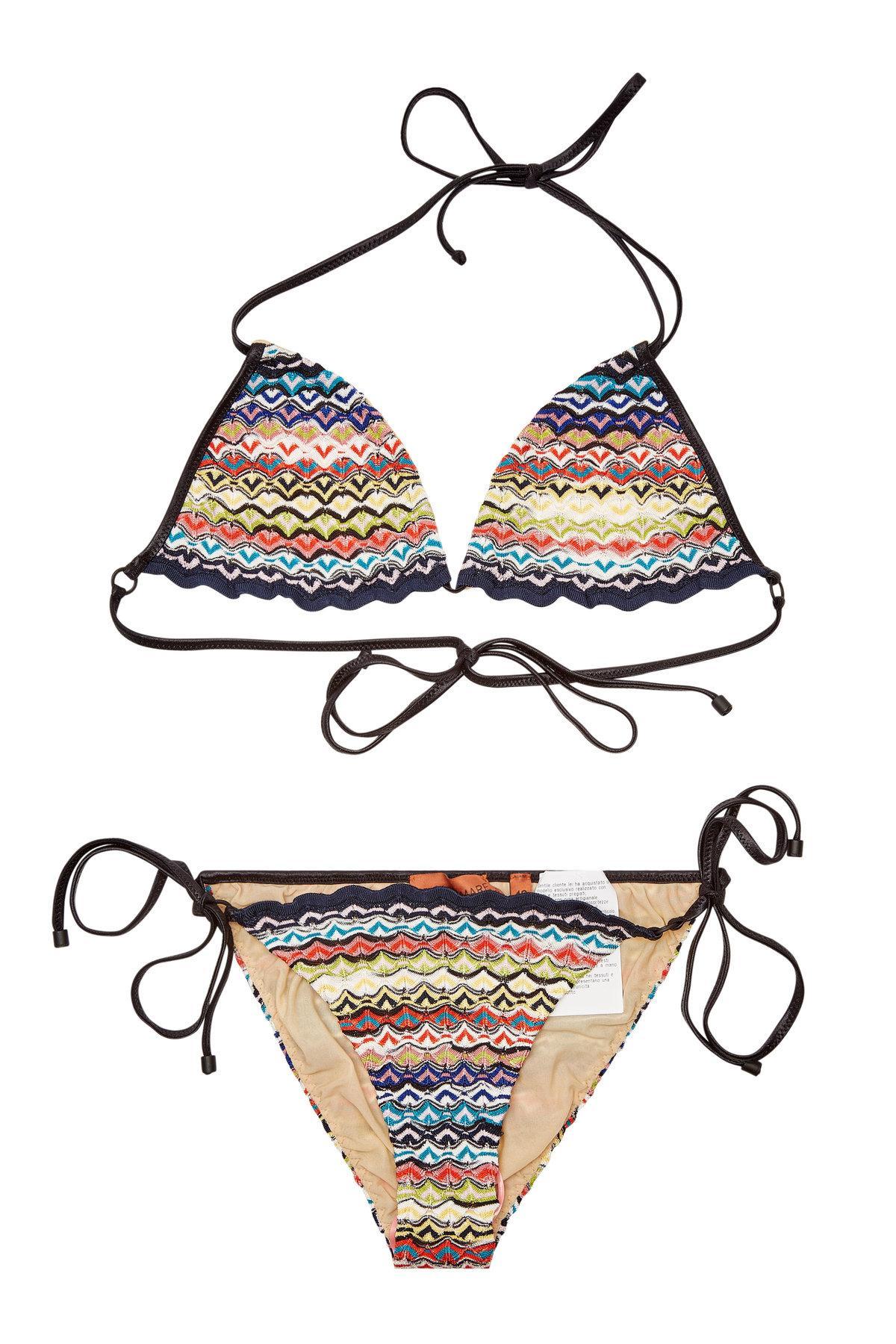 9a3867d735725 Missoni Knit Triangle Bikini In Multicolored | ModeSens