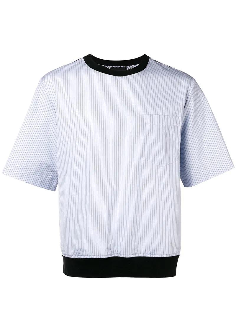 3.1 Phillip Lim Pinstripe T-Shirt - Blue