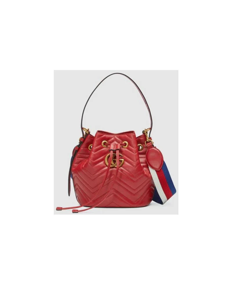 7f310cd9aa8d06 Fashion Concierge Vip Gucci - Gg Marmont Quilted Leather Bucket Bag -  Unavailable In Red
