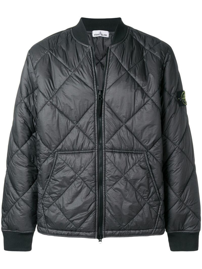c849eef1e Quilted Bomber Jacket in Black