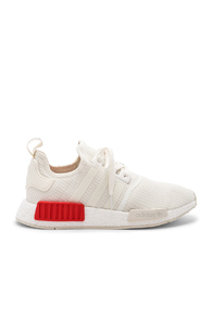Adidas Originals Nmd R1 In Off White & Off White & Lush Red