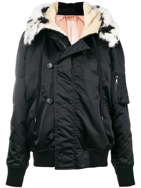 N°21 Fur In Black