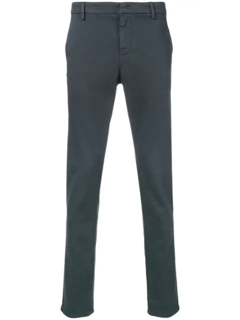 Dondup Straight Leg Trousers In Grey