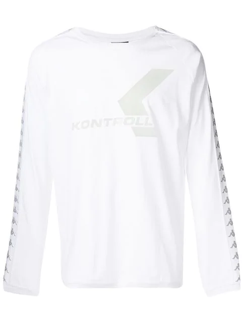 Kappa Long Sleeve T-shirt In White