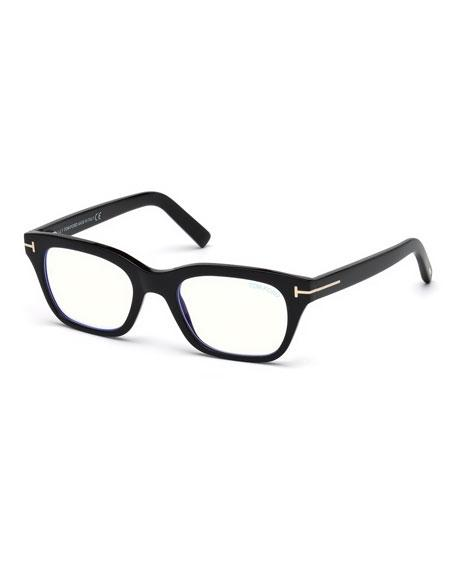 cf22a0987e26 Tom Ford Blue Light-Blocking Rectangle Acetate Optical Frames In Black