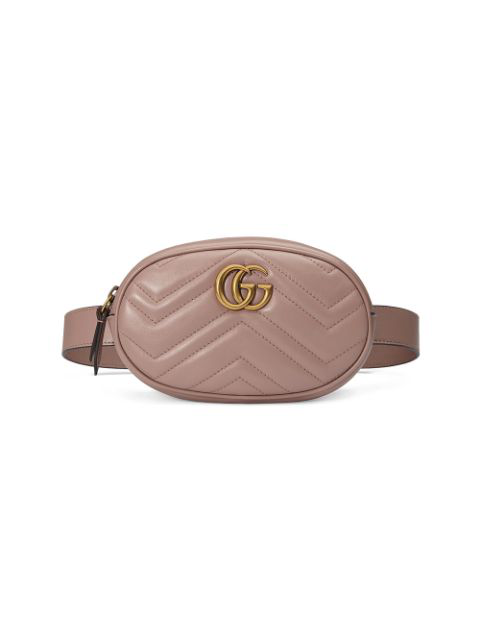 Gucci Gg Marmont 2.0 Matelasse Leather Belt Bag - Beige In 5729 P Pink