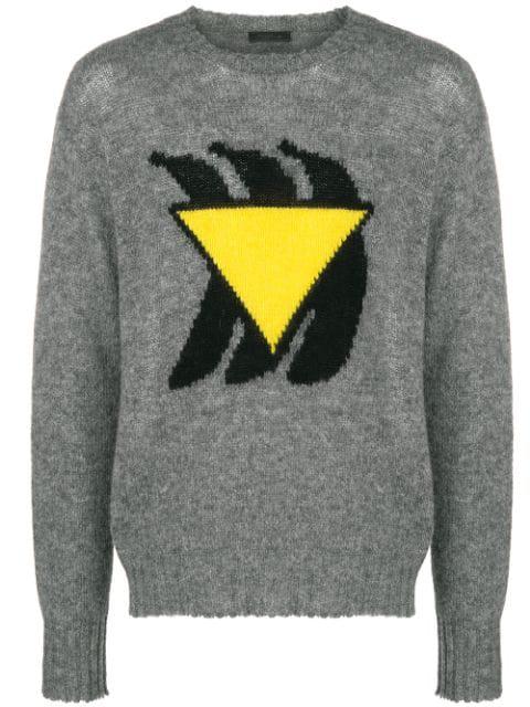Prada Grey Bananas Sweater