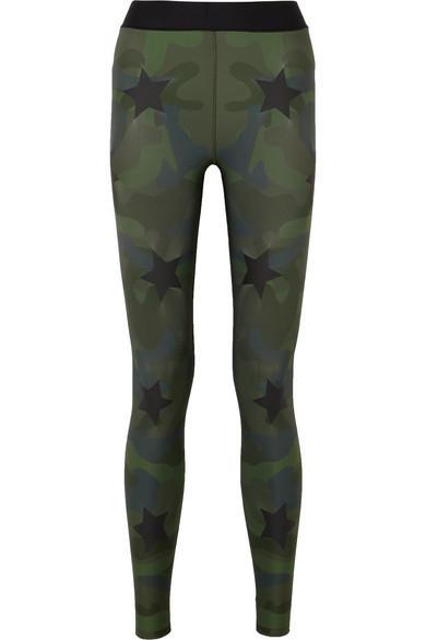 e757e7e2e9 Ultracor Knockout AppliquÉD Camouflage-Print Stretch Leggings In Army Green