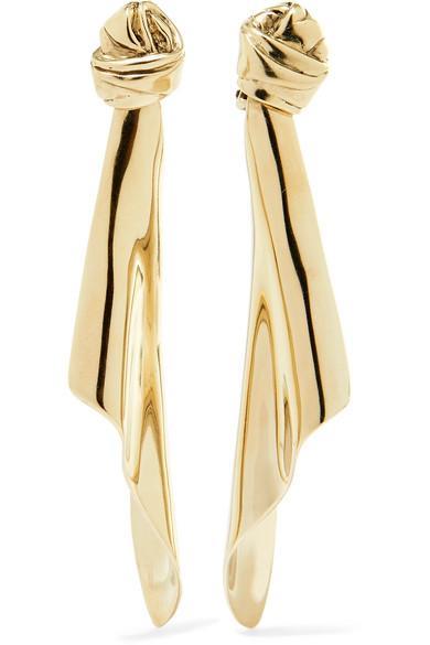 56384357af8 Saint Laurent Gold-Tone Clip Earrings | ModeSens