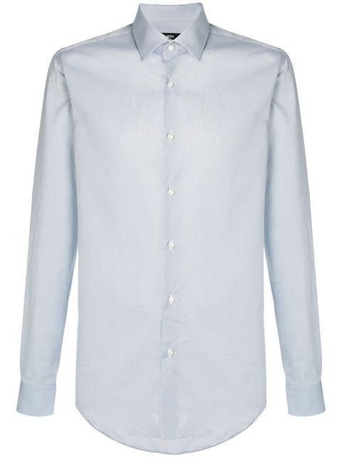 86773cc4 Boss Hugo Boss Micro Dot Printed Shirt - White | ModeSens