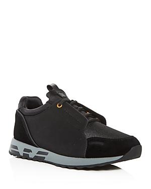 99e8604f Men's Leather & Suede Lace Up Sneakers in Black