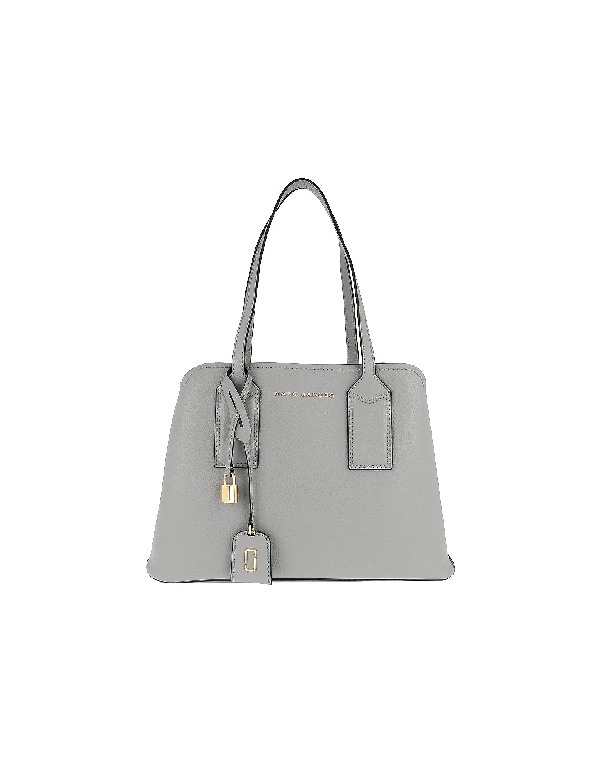 aa50d87e5b32 Marc Jacobs The Editor Leather Tote - Grey In Griffin