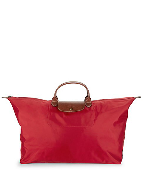 Longchamp Extra Large Le Pliage Travel Bag In Red