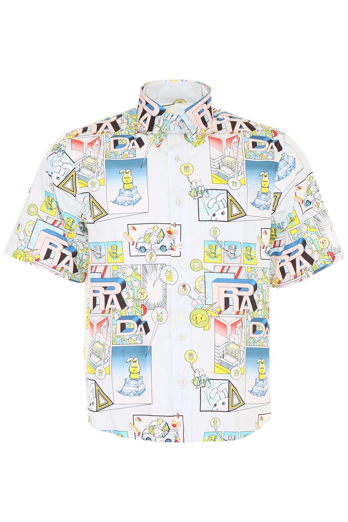 Comic print short sleeved jacket   Prada   MATCHESFASHION