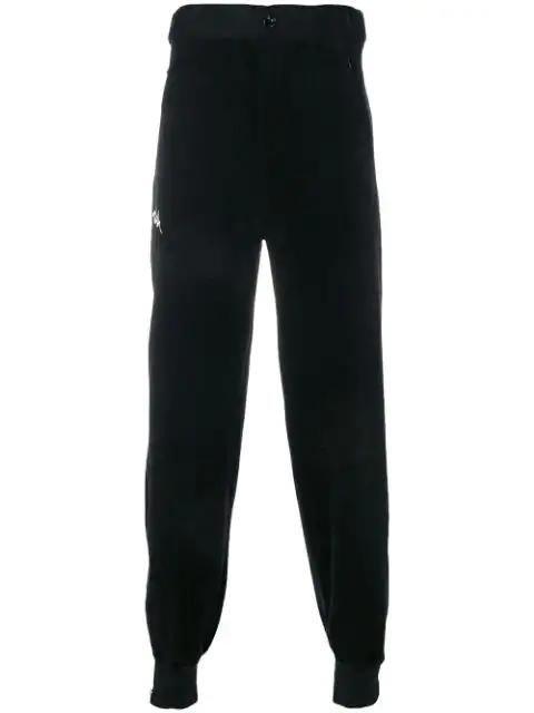 Kappa Waist-tabs Track Pants In Black