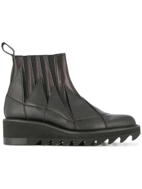 Yohji Yamamoto Jagged Gore Ankle Boots - Black
