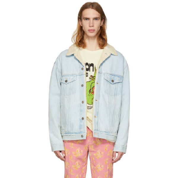 183db5ac3 Gucci - Paramount Embroidered Denim Jacket - Mens - Blue | ModeSens