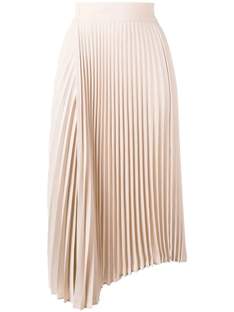 029ebbf4d7e4 Vince Pleated Midi Skirt - Neutrals | ModeSens