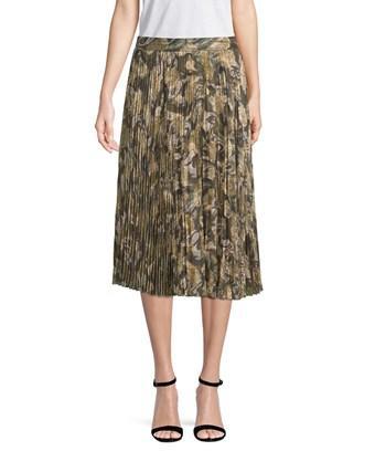 Haute Hippie Pleated Midi Skirt In Nocolor