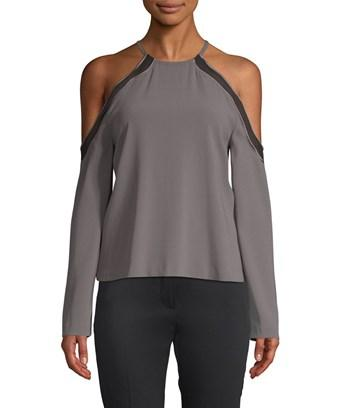 Ramy Brook Anya Cold-shoulder Blouse In Nocolor