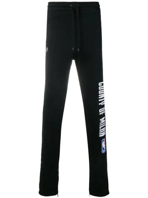 Marcelo Burlon County Of Milan Nba Track Pants In Black