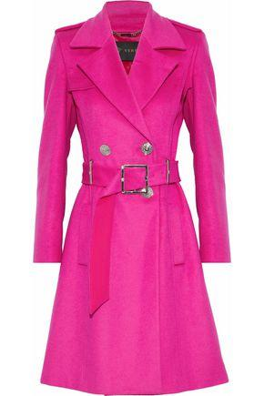 Versace Woman Wool And Cashmere-Blend Trench Coat Fuchsia